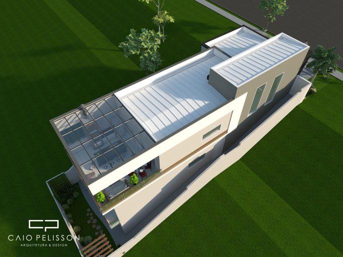 projeto casa moderna sobrado terreno declive 9x30 cotia