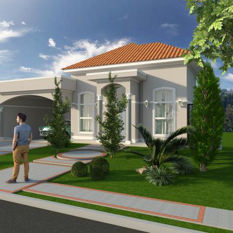 Projetos de arquitetura residencial campinas plantas de - Casas estilo americano ...