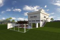 projeto casa sobrado estilo neoclássico terreno desnível condomínio alto padrão piracicaba terras artemis