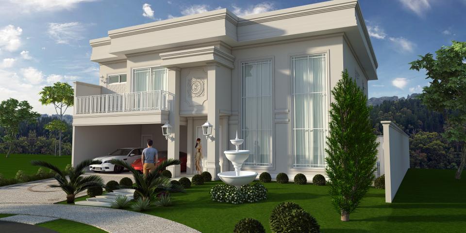 projeto construção casa sobrado alto padrão arquitetura neoclássica luxuosa swiss park campinas
