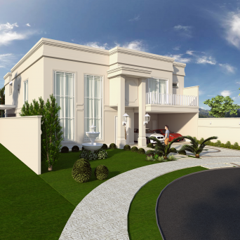 projeto casa estilo neoclássica mansão luxuosa campinas swiss park