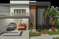 projeto casa térrea mezanino arquitetura moderna condomínio fechado