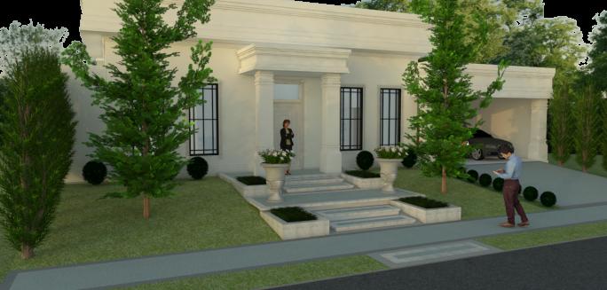 Fachadas de casas neocl ssicas inspira o europ ia for Fachadas de casas estilo americano