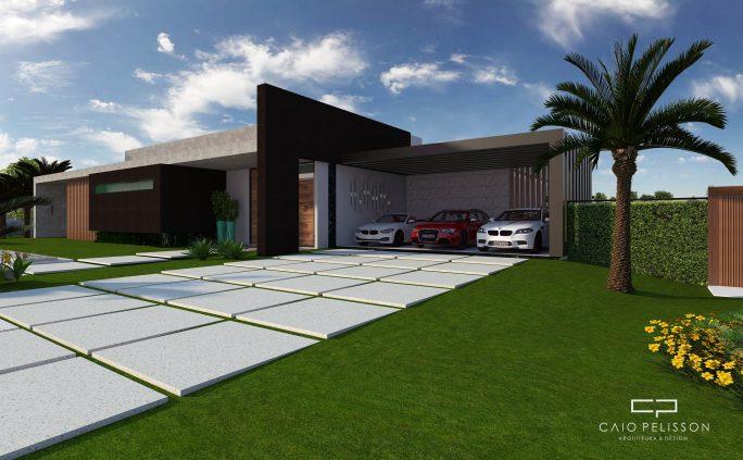 projeto casa sobrado moderno arquitetura contemporanea terreno declive condominio luxo jundiai