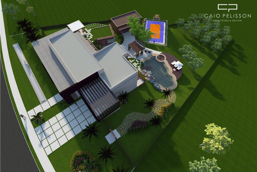 Como aproveitar um terreno com aclive e fazer uma casa de arquitetura moderna