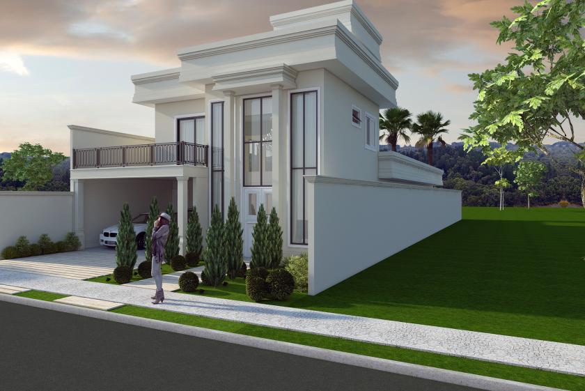 Projeto de casas em condom nios alto padr o em araras for Casa moderna 90m2