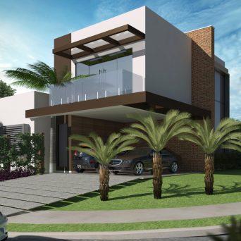 Projeto sobrado terreno 12x30 swiss park campinas fachada for Casa moderna esquina