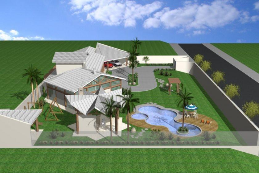 Projetos de casas em chácara de alto padrão