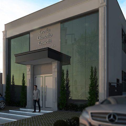 projeto escritório advocacia limeira avenida maestro xixiri fachada pele vidro estilo neoclássico