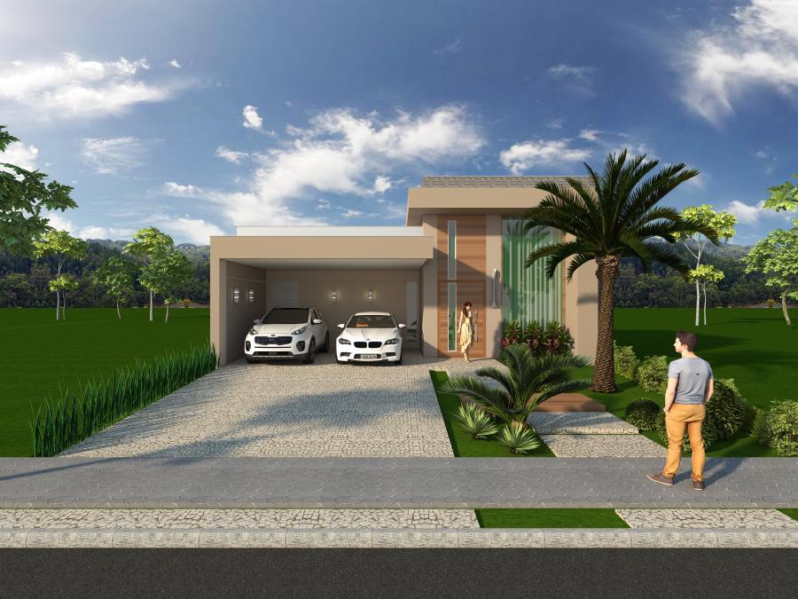 Projetos de casas t rreas em terreno 12x25 em limeira e for Casa moderna 6 x 12