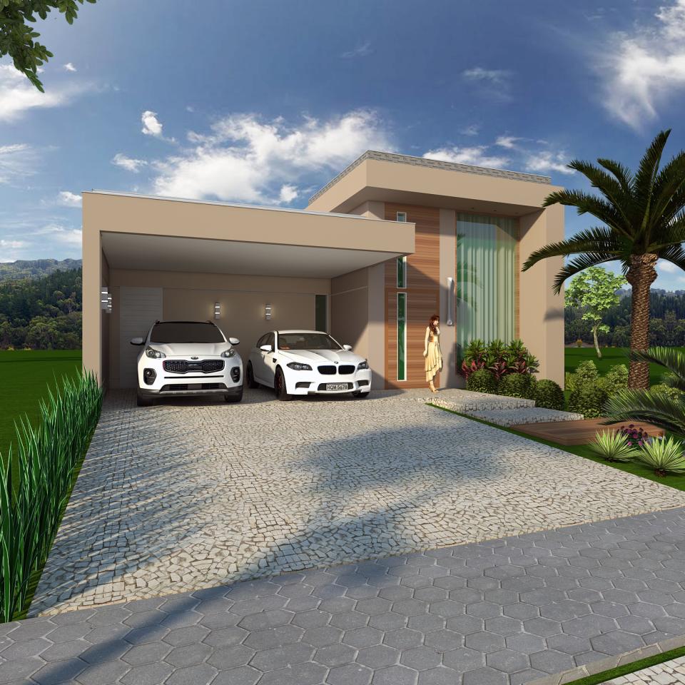 Projetos de arquitetura residencial campinas plantas de for Casa moderna 7x20