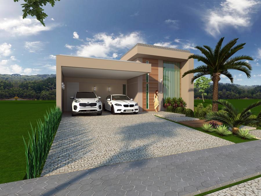 Projeto planta casa t rrea fachada moderna terreno 12x25 for Casas modernas de 80 metros
