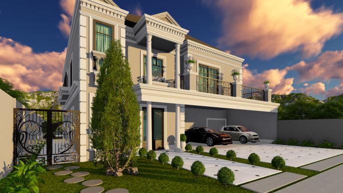 projeto sobrado clássico arquitetura francesa estilo europeu alto padrão luxo 17x37 campinas pedra alta