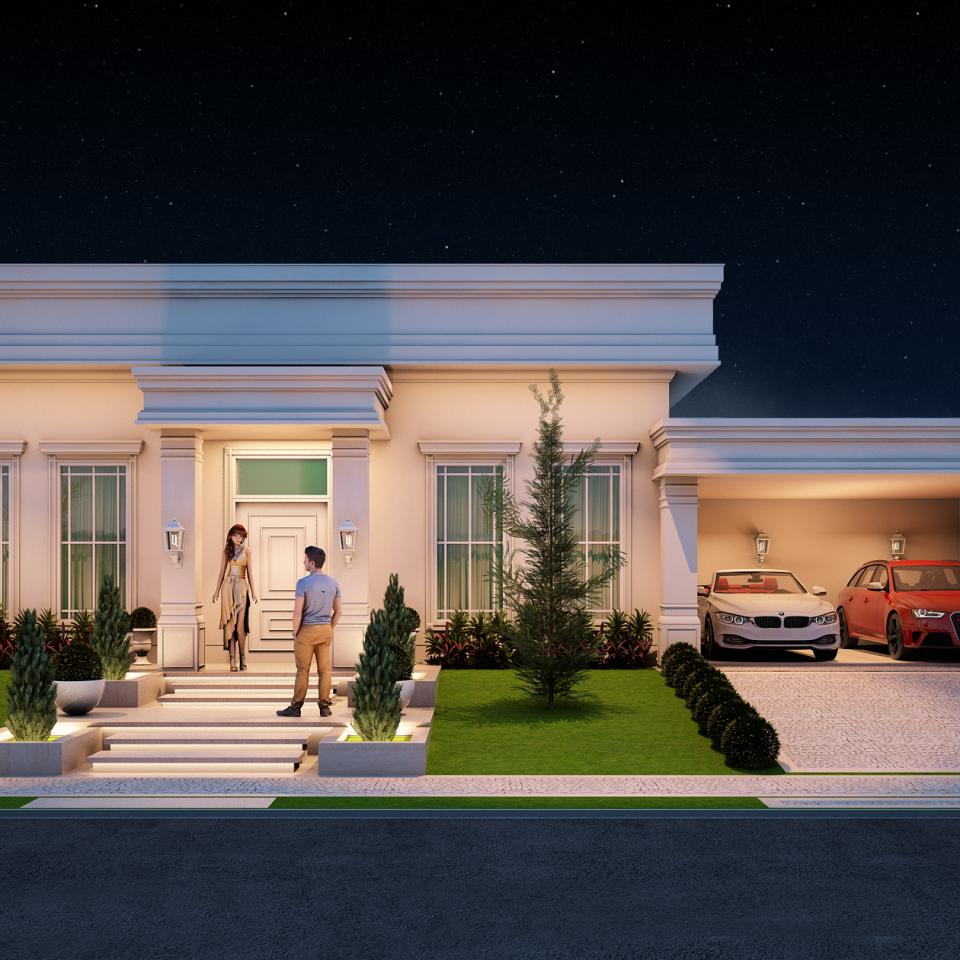 Projetos de arquitetura residencial campinas plantas de Casa clasica moderna