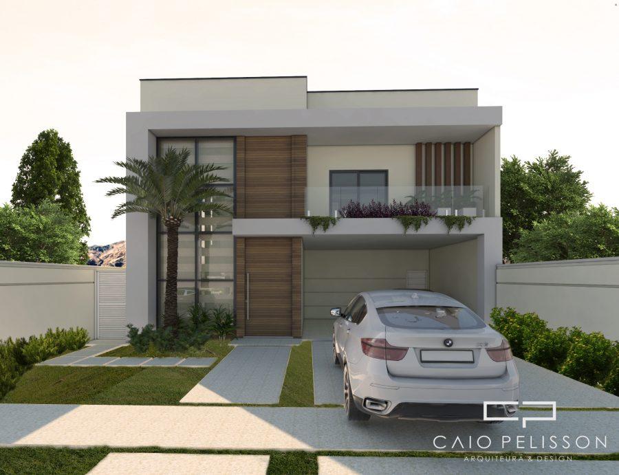 Projeto casa sobrado moderno terreno 12x25 construcao 200 for Casa moderna 140 m2