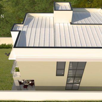 projeto casa sobrado moderno terreno 12x25 construcao 200 m2 fachada reta
