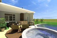 projeto foto sobrado moderno esquina 12×25 piscina sobre garagem lazer segundo pavimento