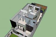 projeto sobrado moderno 8×25 03 suites lazer integrado piscina citta di salerno campinas