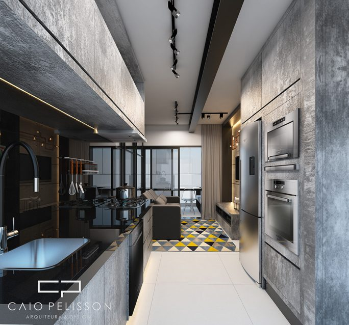 projeto decoracao design apartamento studio e motion brooklin sp estilo industrial metal