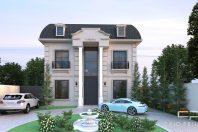 projeto casa neoclássica estilo francês fachada mansard
