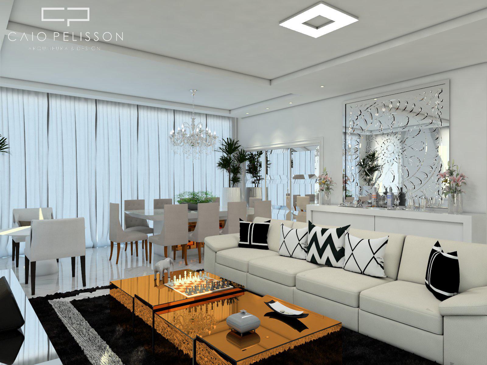 Projeto design interiores decora o sala lving estilo for Estilo moderno interiores