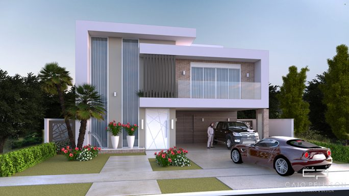 projeto sobrado moderno 300m2 terreno 15x30 alphaville campinas