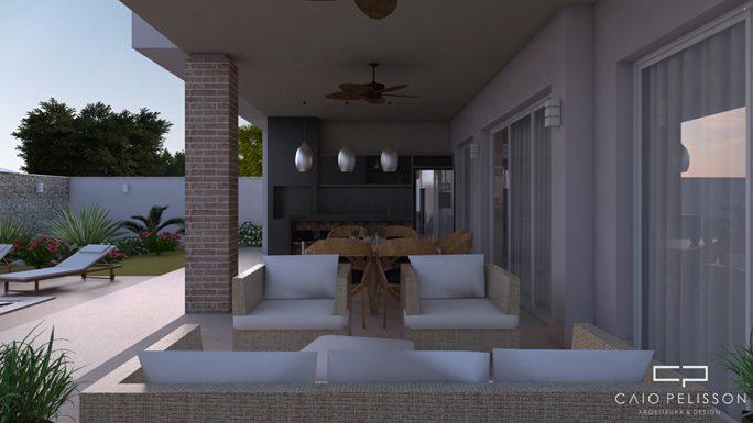 projeto sobrado moderno 300m2 terreno 15x30 alphaville campinas fachada reta
