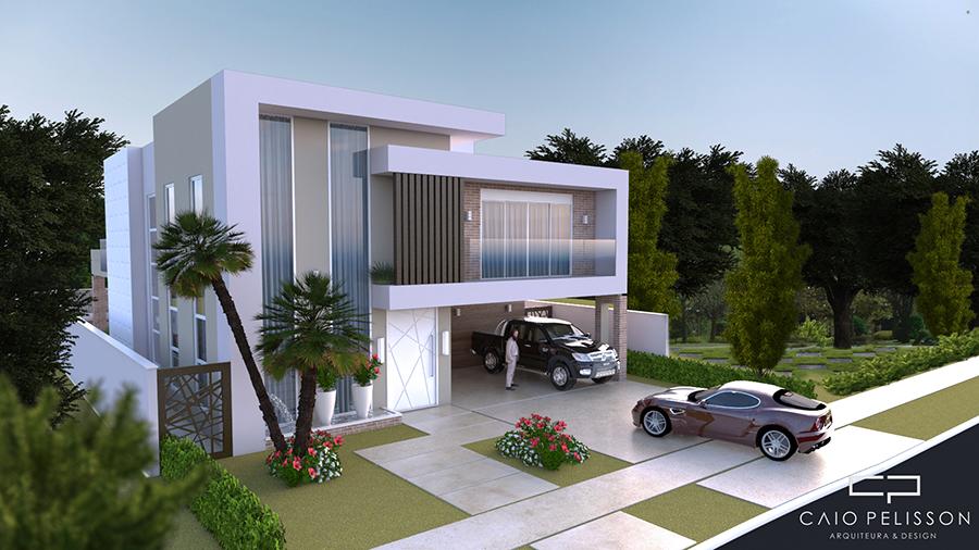 projeto sobrado moderno 300m2 terreno 15x30 alphaville