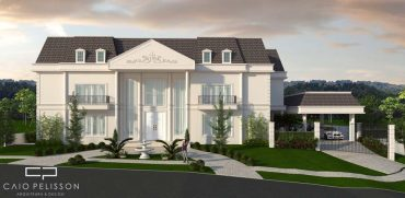 fachada neoclássica casa sobrado estilo francês