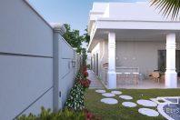 projeto casa sobrado mezanino fachada arquitetura neoclássica swiss park campinas 12×30