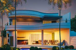 projeto residencia casa sobrado moderno curvas redondo terreno 11×31