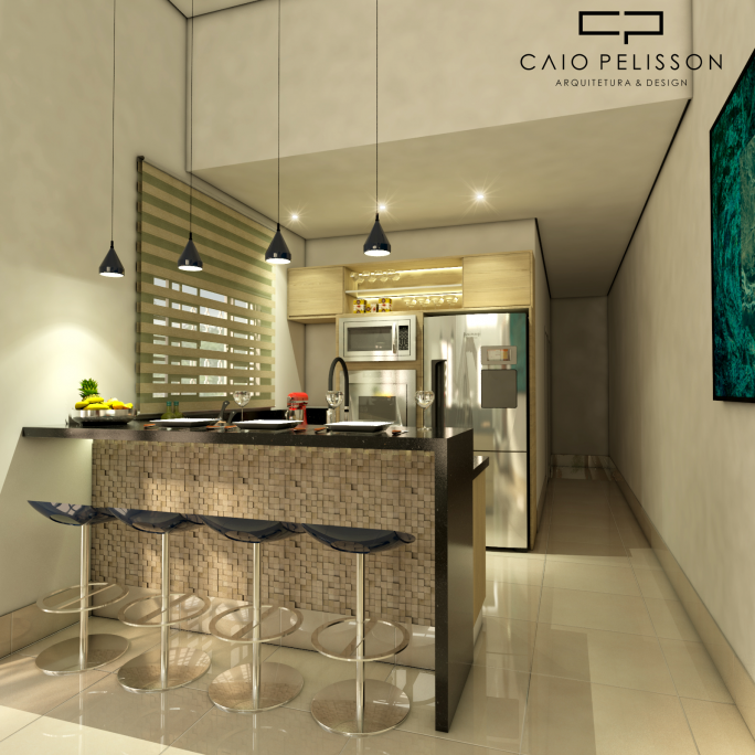 projeto casa decorada moderna 5x25 projeto interiores