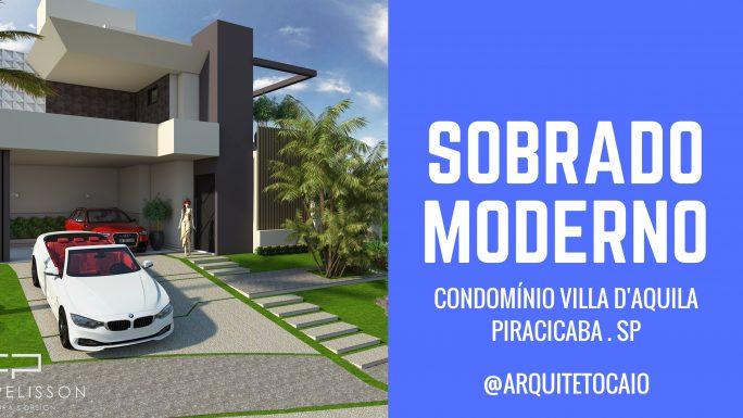 projeto sobrado moderno contemporâneo 12x30 piracicaba condomínio vila daquila