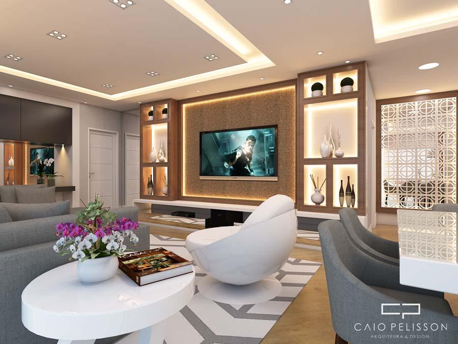 Projeto decora o e design interiores ambientes apartamento for Interiores apartamentos modernos