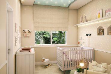 47173fa43 projeto decoração design quarto nene bebe infantil feminino criança estilo  romântico