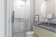 Projeto design de interiores Apartamento Compacto 60 metros Terrazzo Limeira