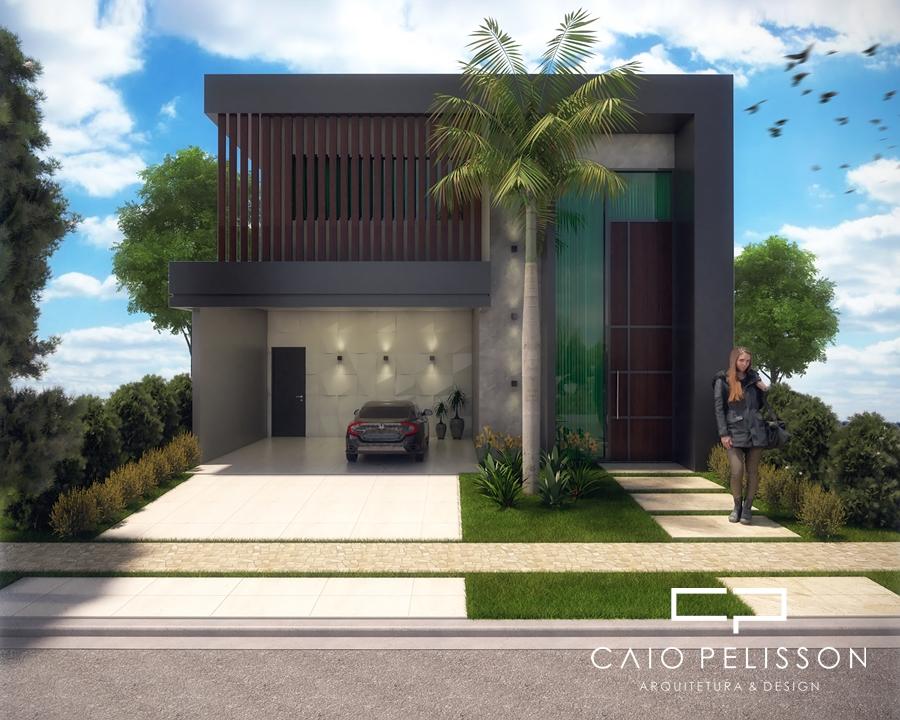 Projeto planta casa t rrea com mezanino fachada moderna for Case moderne contemporanee