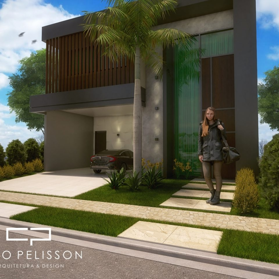Projetos de casas arquitetura moderna e contempor nea for Casa moderna 7x20