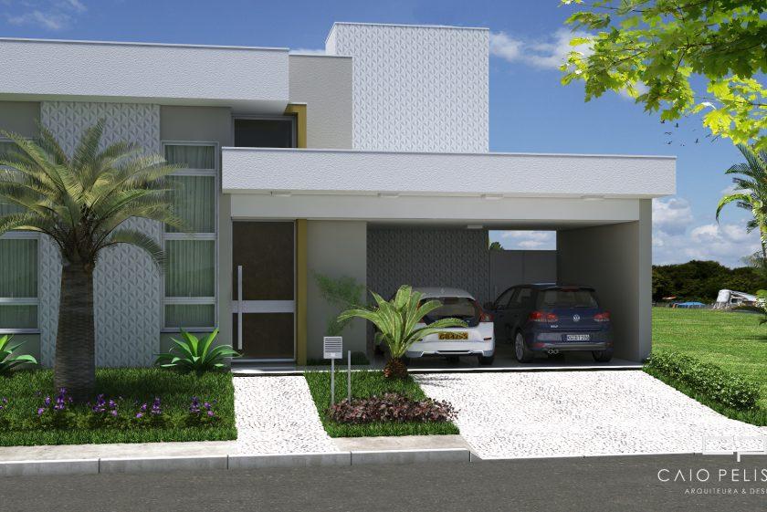 projeto casa moderna villa daquila 11×30 piracicaba reta telhado embutido