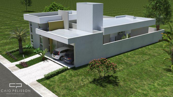 projeto casa moderna villa daquila 11x30 piracicaba reta telhado embutido