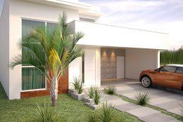 projeto arquitetura casa térrea moderna planta 180 metros terreno 11×28