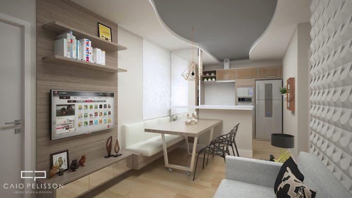 apartamento mrv decoração ambientes pequenos campinas cachoeira sala integrada cozinha