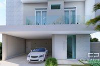 projeto sobrado moderno fachada reta terreno 10×25 terras sao bento limeira