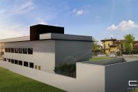 Projeto Arquitetura Corporativa 2 pavimentos Empresa Tecnologia fachada Moderna