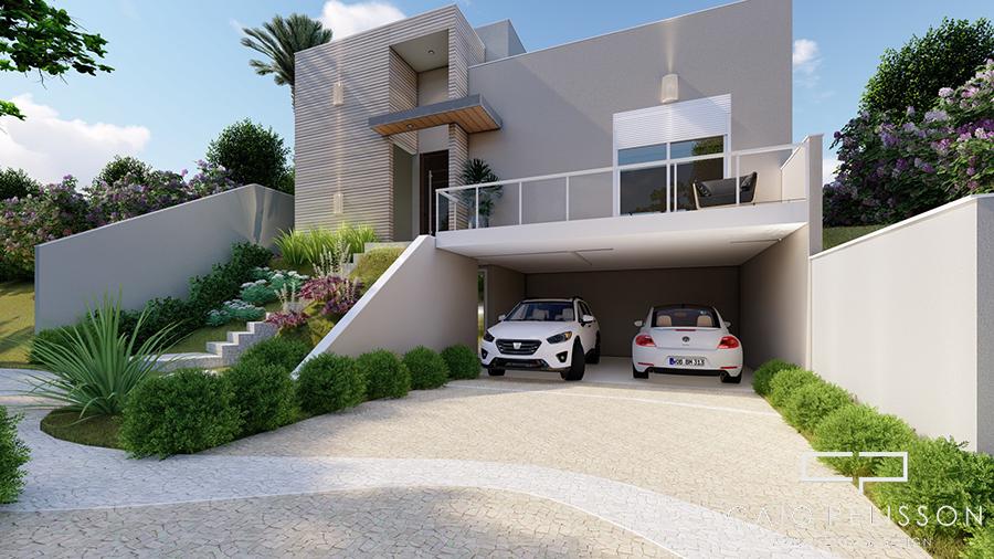 Planta casa terrea terreno aclive 12x30 condominio fundo alto for Fachadas de casas modernas a desnivel