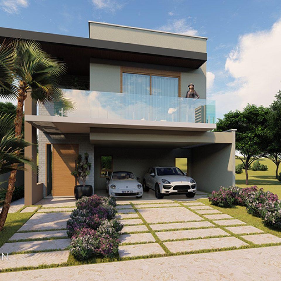 Projetos de arquitetura residencial campinas plantas de for Fachadas de casas modernas a desnivel