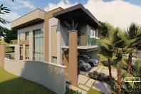 projeto casa sobrado moderno 12×30 terreno desnivel condominio flora milano modernista