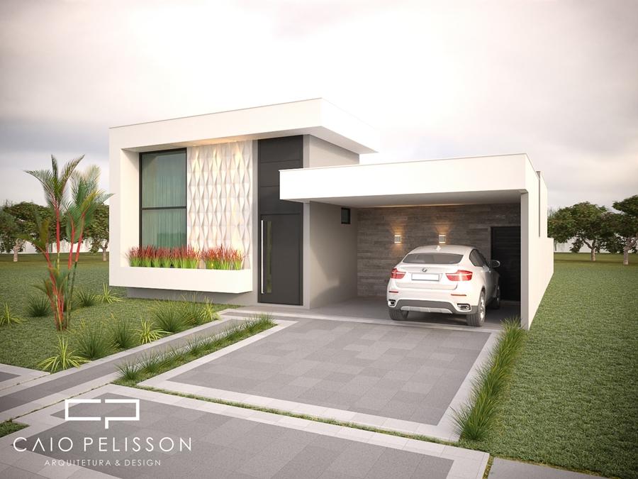 Projeto casa terrea moderna fachada contemporanea tereno for Casa moderna 8
