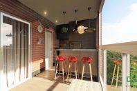 projeto decoracao design interiores moderno apartamento compacto 88 metros