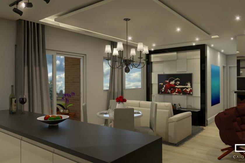 Projeto Apartamento Decorado Talipo Campinas Sala Integrada